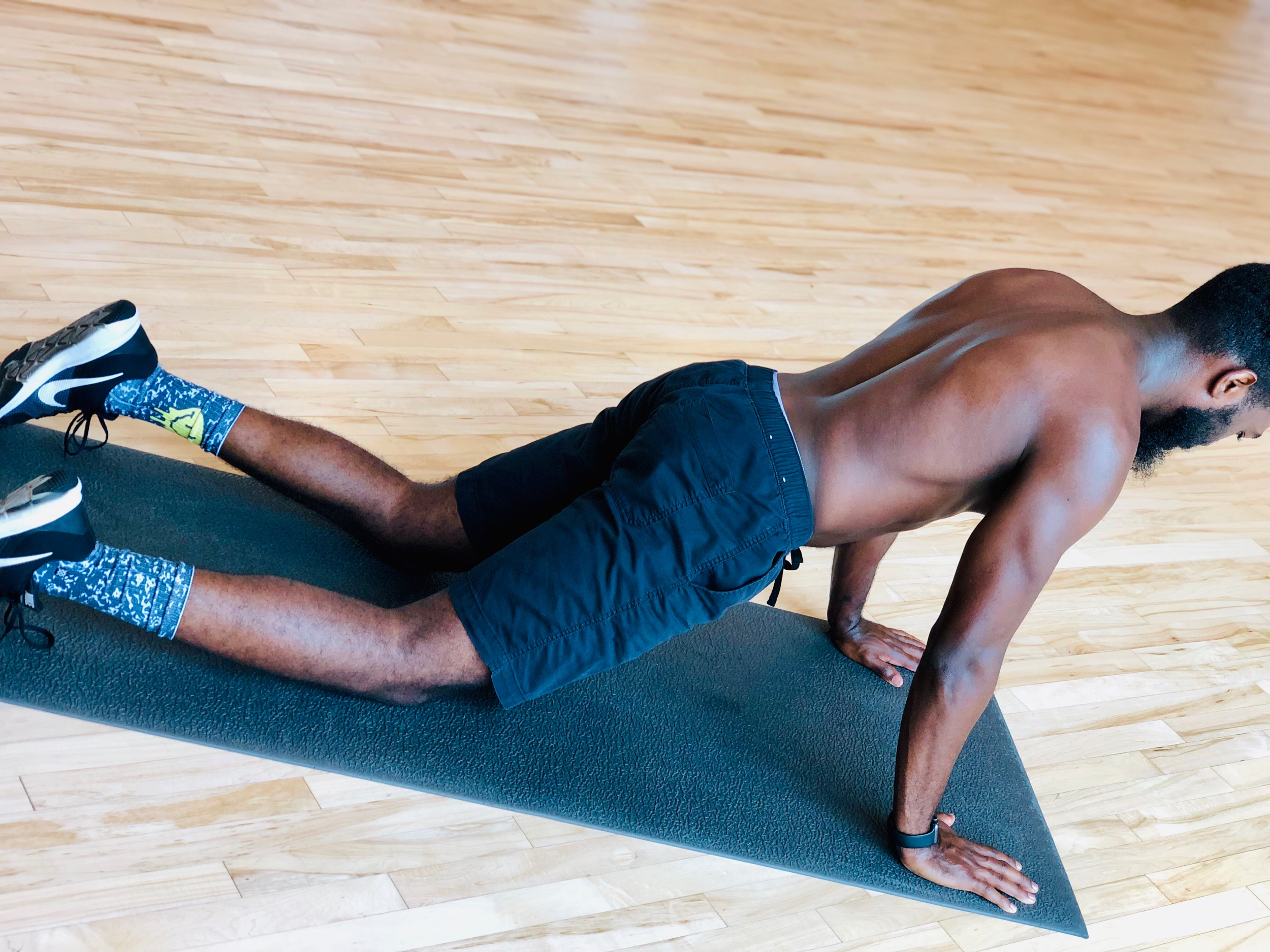 Plank (Modified): Increases core stability.