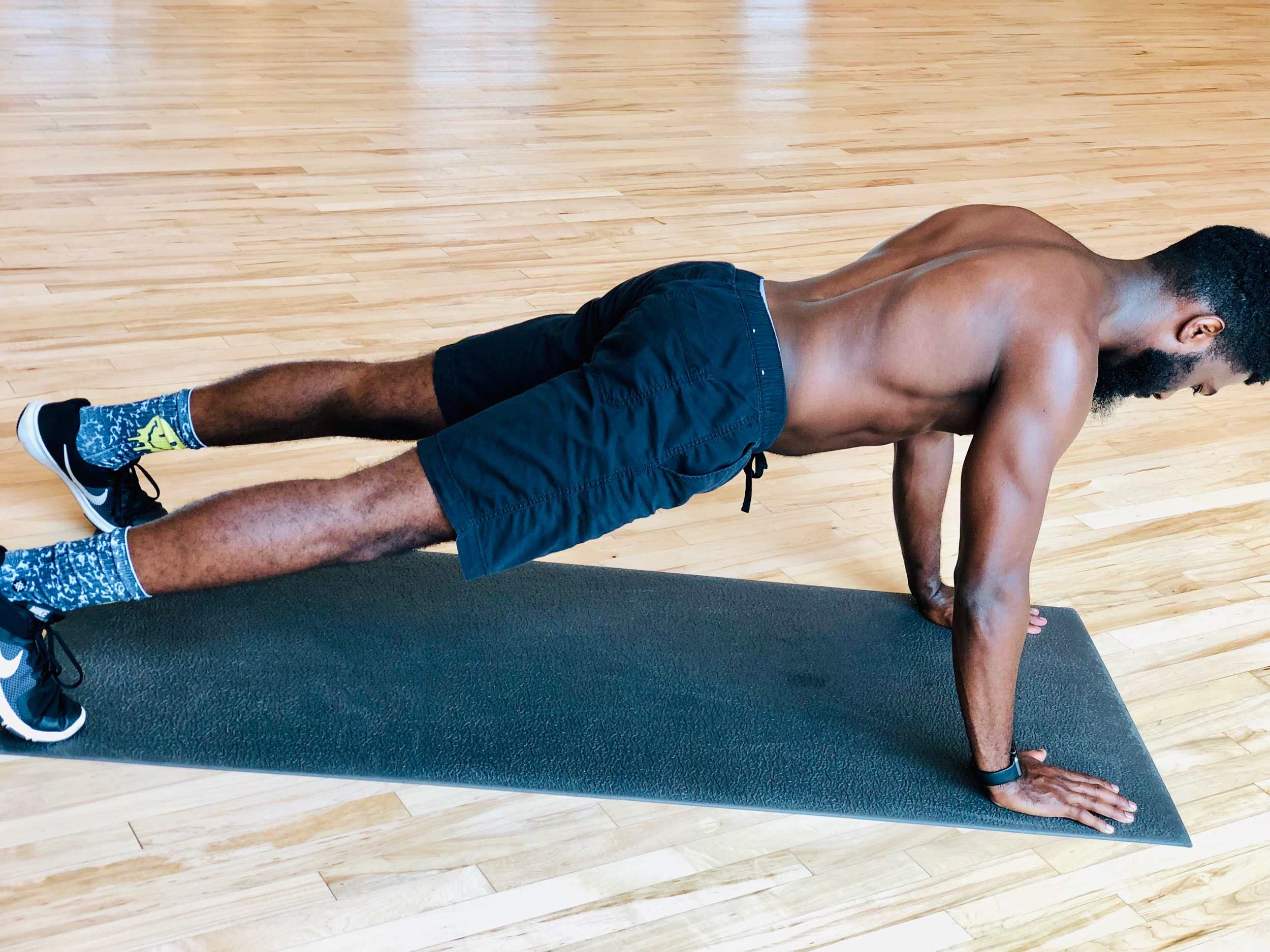 Plank: Increase difficulty to modified version.
