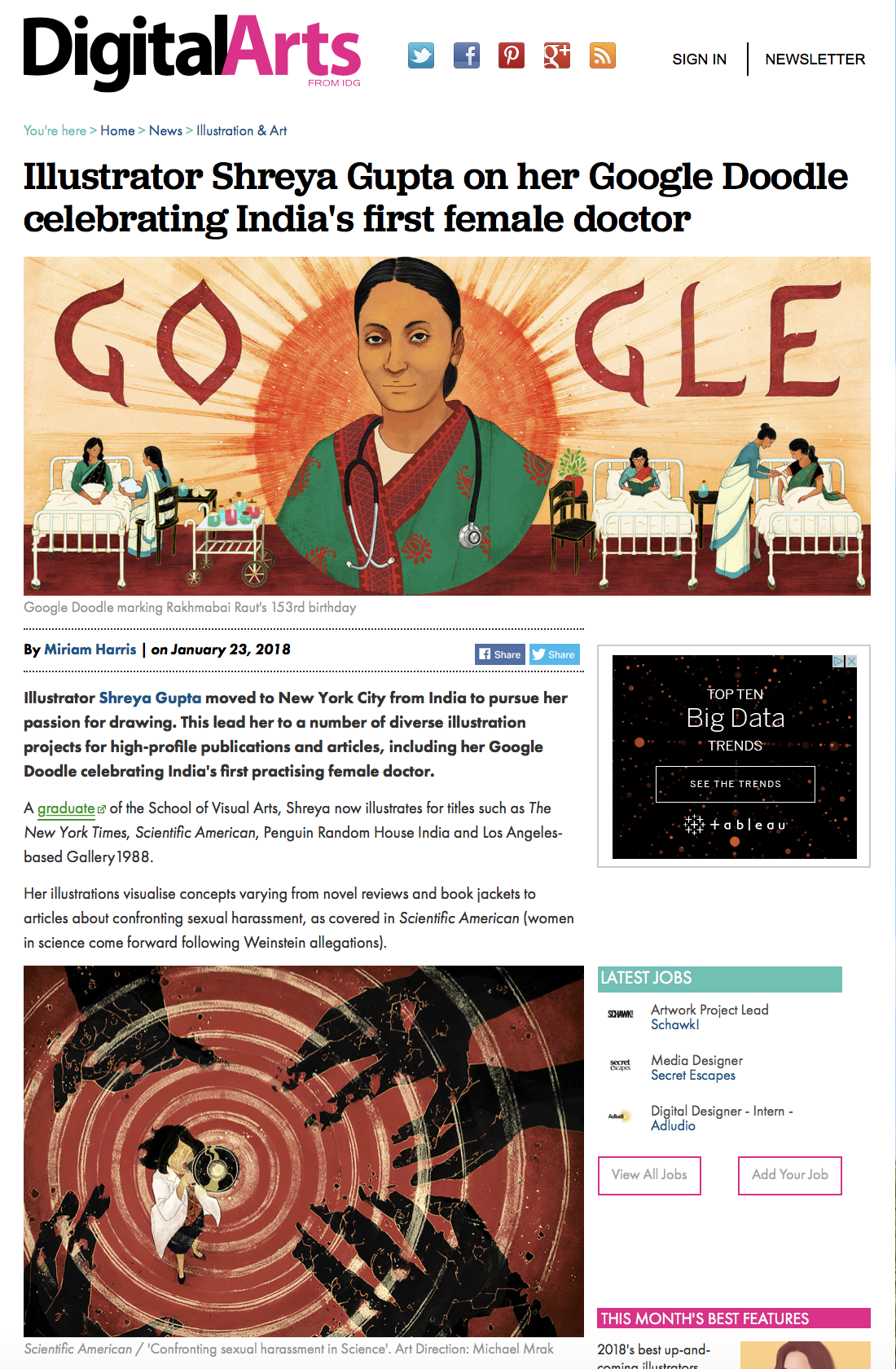 Digital Arts Shreya Gupta Google doodle
