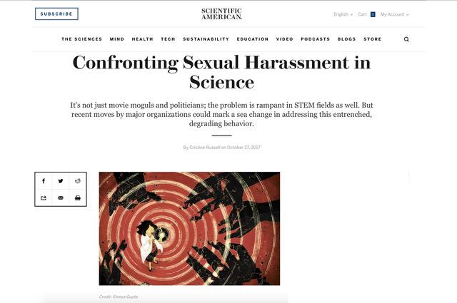SCIENTIFIC AMERICAN- CONFRONTING SEXUAL HARASSMENT #METOO