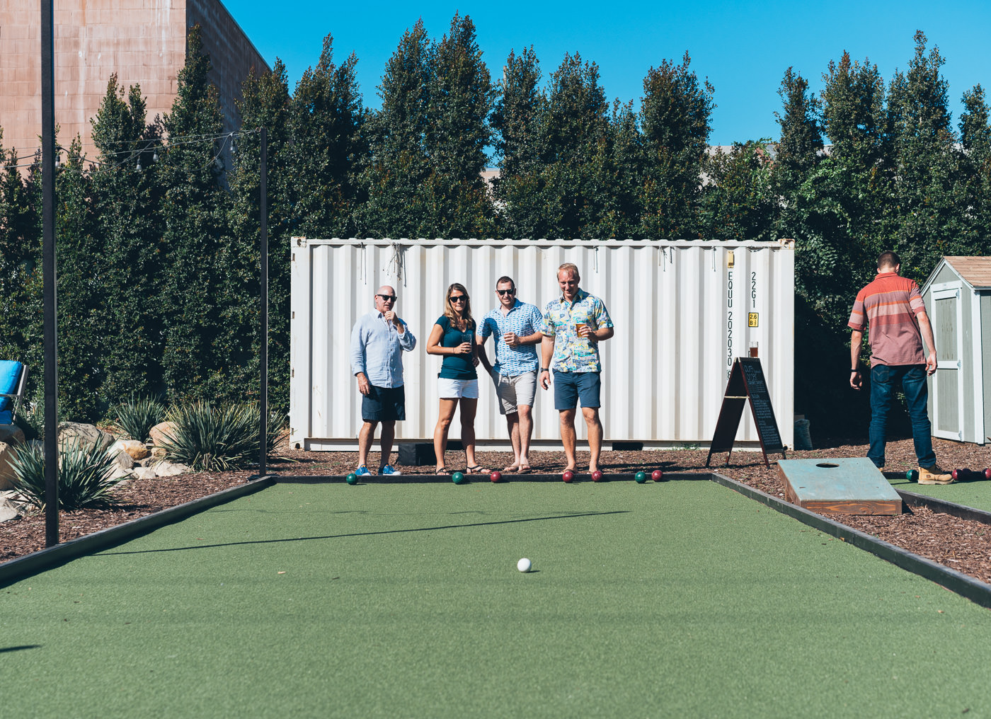 The new Bocce Ball Courts at Pure Order Brewing