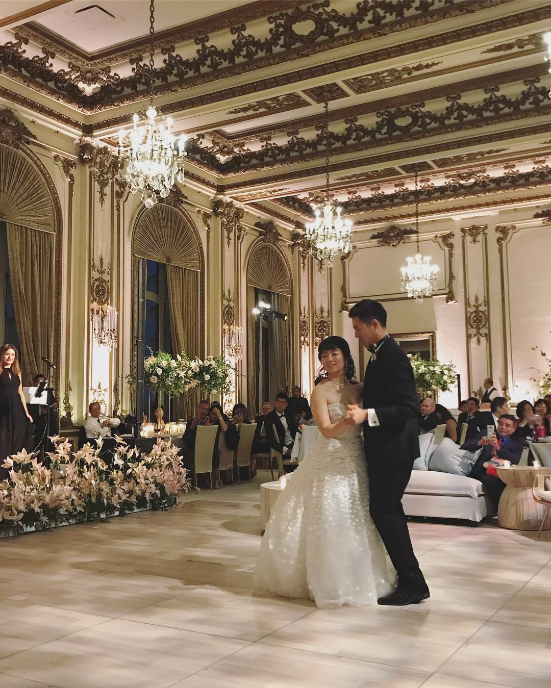 Wedding couple: Helena and Charles at the Fairmont Hotel in SF