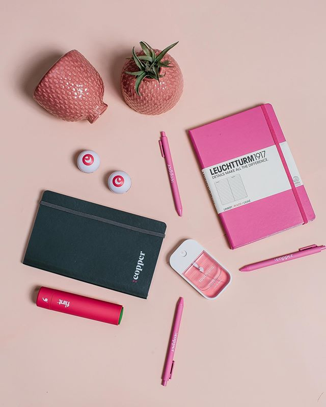 We love working with *bold* companies like @copperinc. Friendly tip: don't be afraid to use color in your branding and swag. Hello, Millennial Pink!