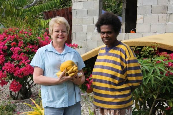 Meeting a Vanuatu local