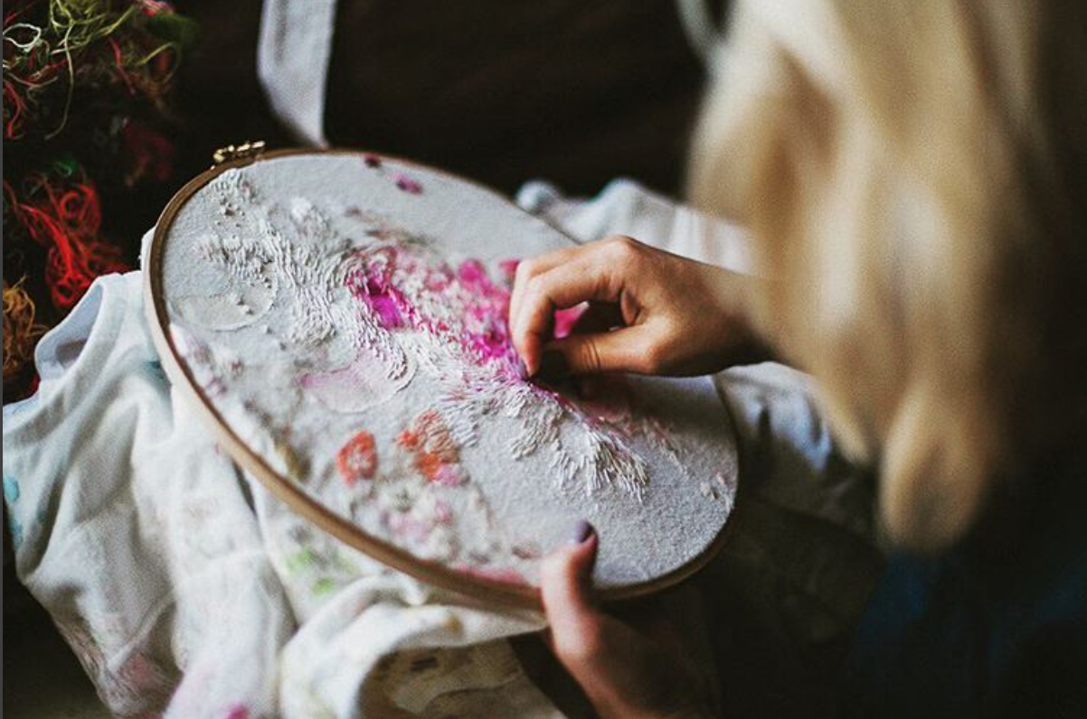 Lisa Smirnova hand-embroidered each of the garments.