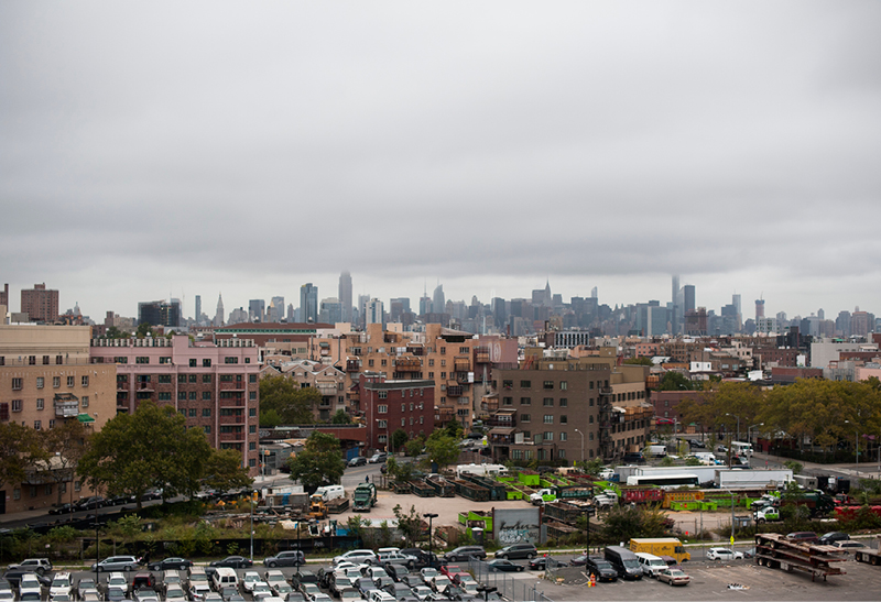 View from the window: The BF+DA is located between Bed-Stuy and South Williamsburg.