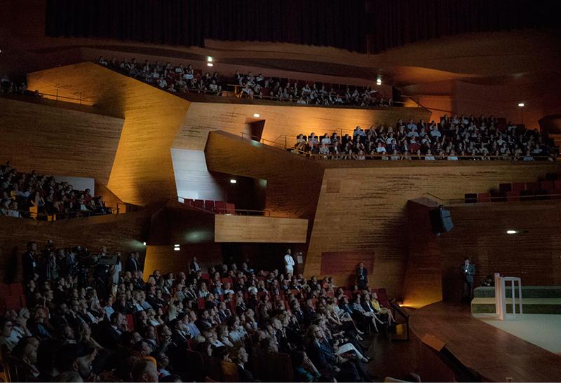 Audience inside the Copenhagen Concert Hall.