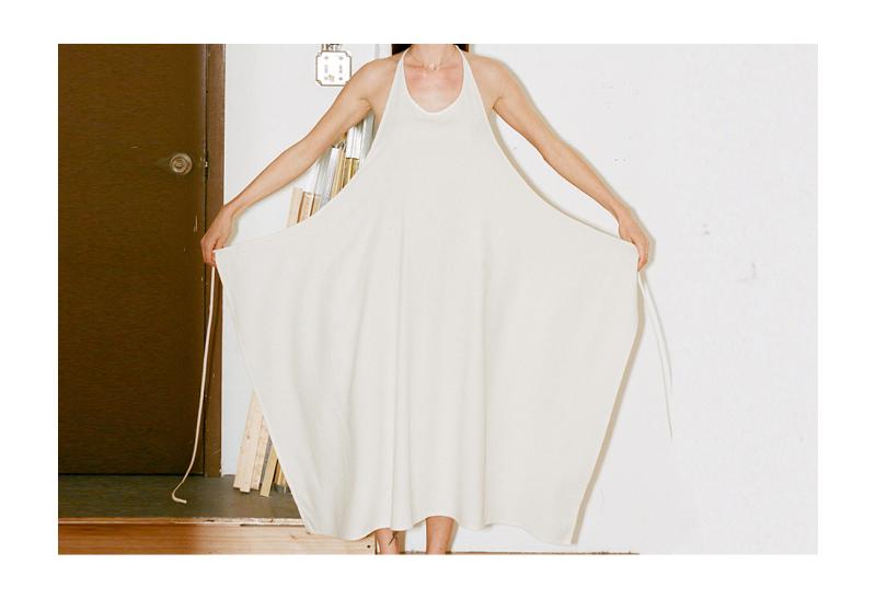 Choose:  A pron Dress .  Made from wild silk: €135,00.
