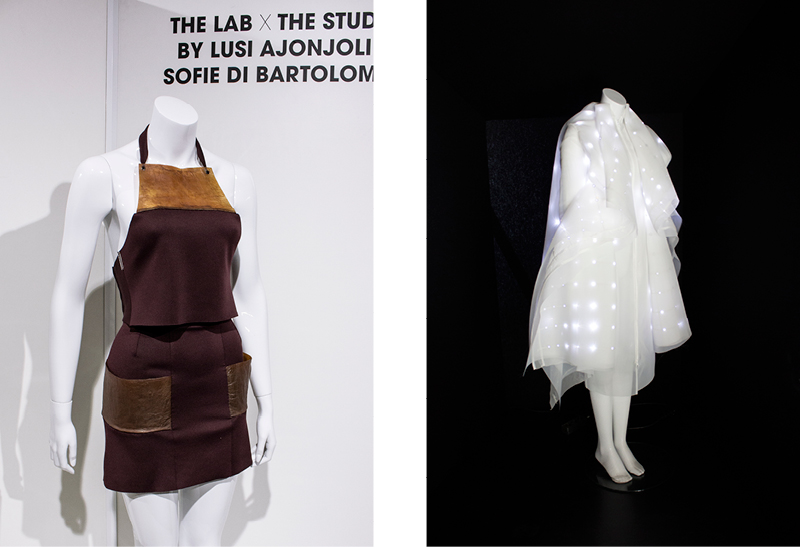 Exhibition pieces by   ElektroCouture   at the   Fashiontech Berlin conference.