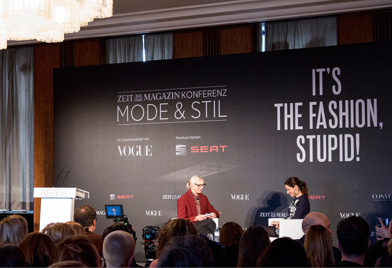 Livia Firth of   Eco-Age   in conversation with Christiane Arp of German Vogue at the Mode+Stil conference.