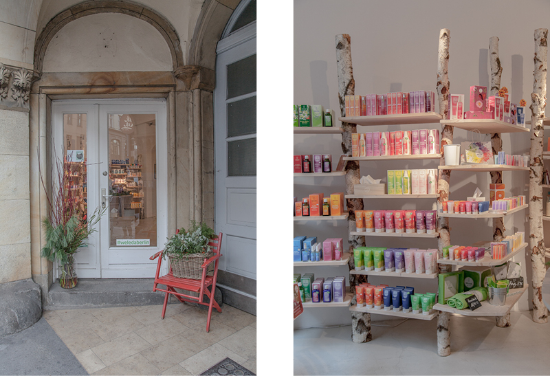 Organic beauty products at  Weleda .