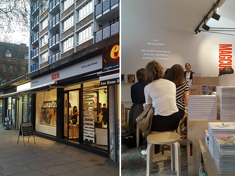 magCulture in Clerkenwell, hosting a talk with The Plant magazine