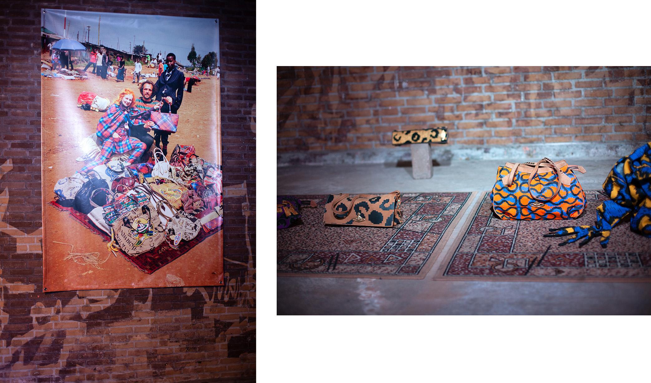 Vivienne Westwood, bags made in Nairobi.