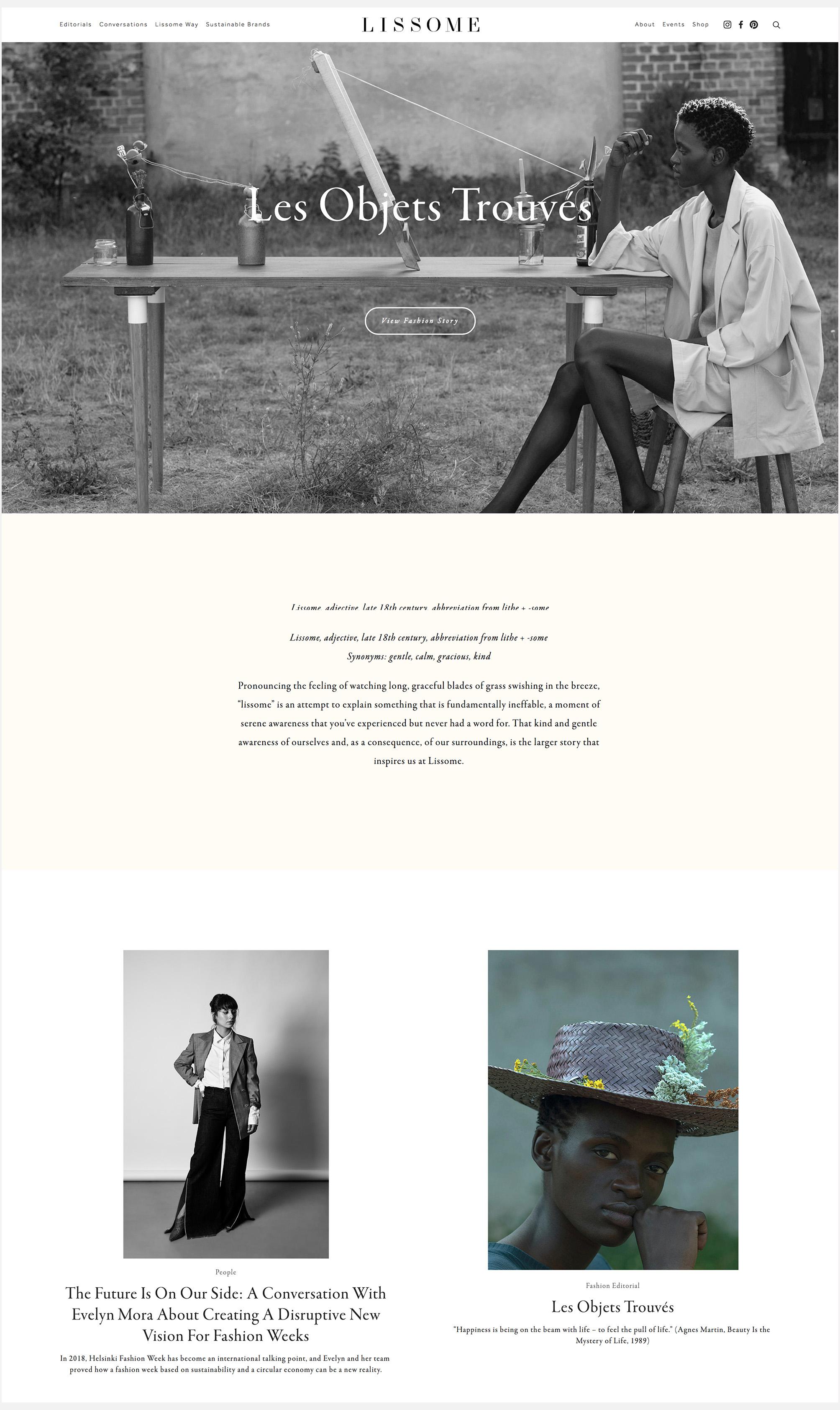 Webdesign for Lissome Magazine.