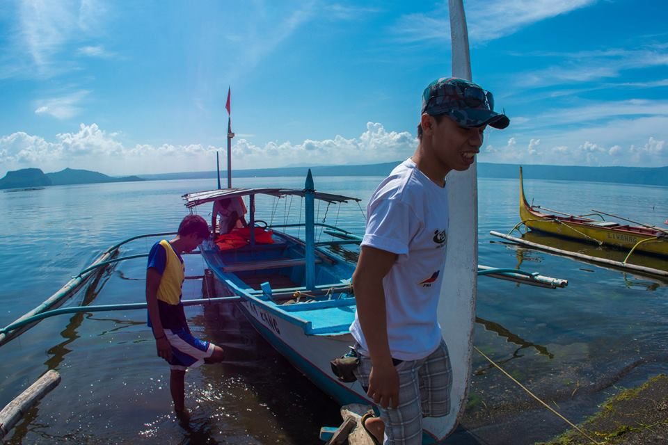 From Taal Lake Yacht Club, we rode a boat to the Secret Trail.