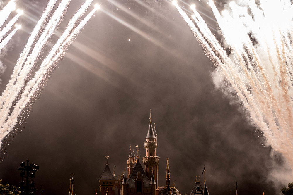 The fireworks display is always the highlight of each Disneyland visit.