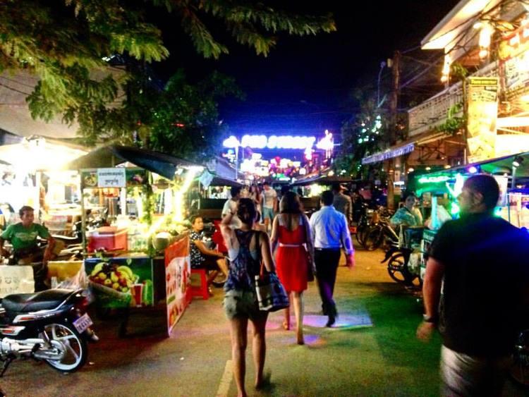 Pub Street, Siem Reap.