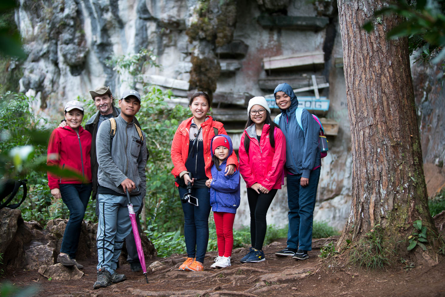 The Get Lost crew for this particular trip, including our local Sagada guide Vhestre Bagni. Not in photo is my husband and photographer / cinematographer extraordinaire, Miguel Olfindo. So proud of him for taking on not just one but two hikes in one day!