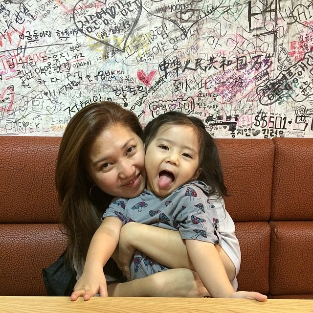 Me with 3 y/o Erin somewhere in Seoul.
