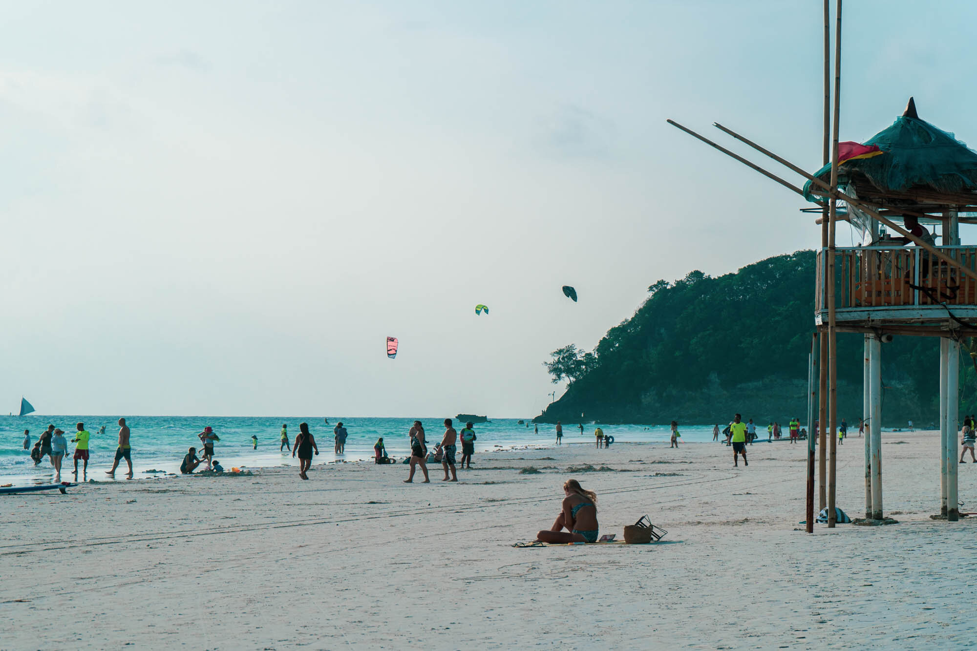 2019, White Beach. This is the designated spot for water sports in Station 1 to prevent overcrowding the beach line.