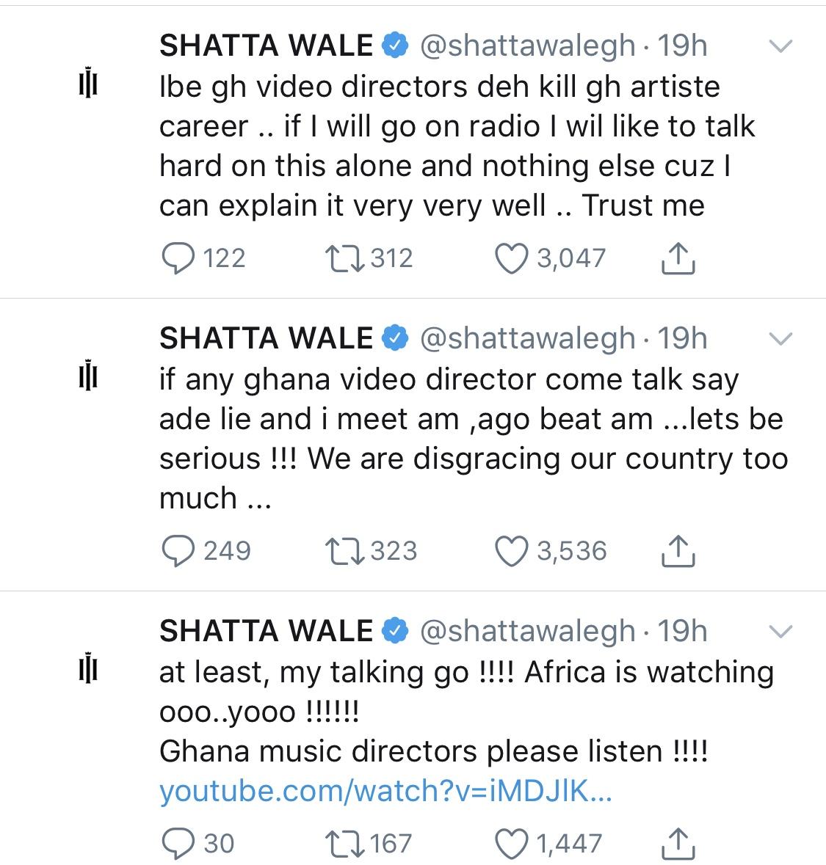 Shatta Wale tweet