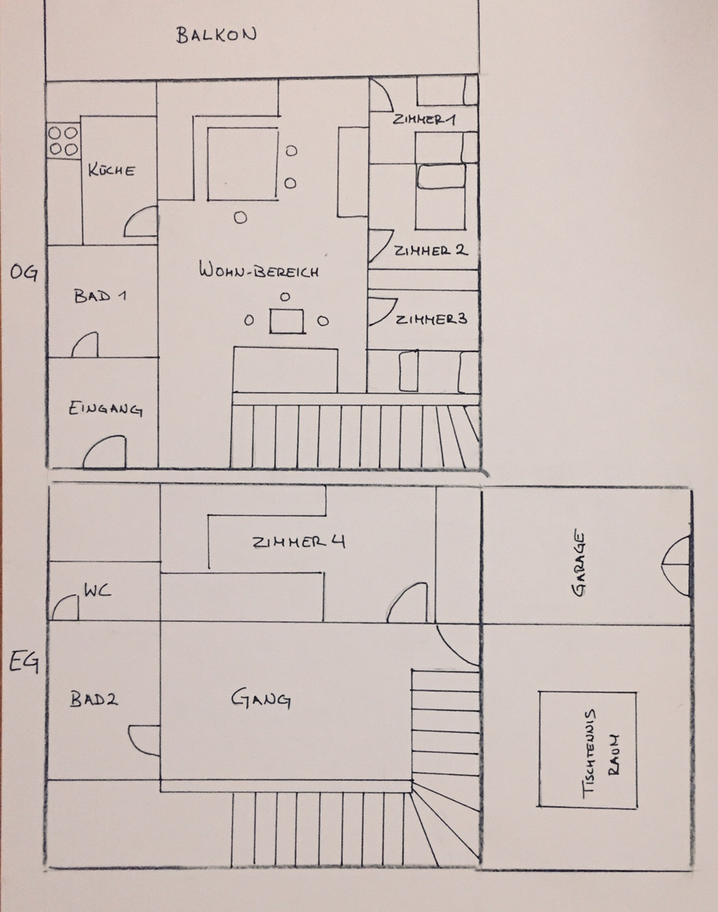 Plan of the house.
