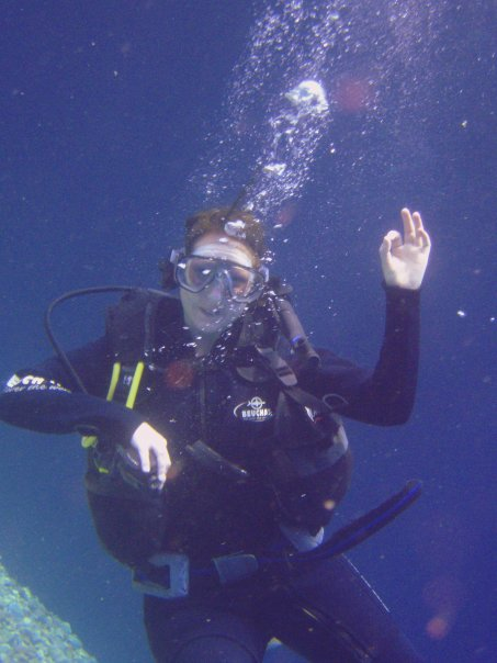 Me exploring the Red Sea