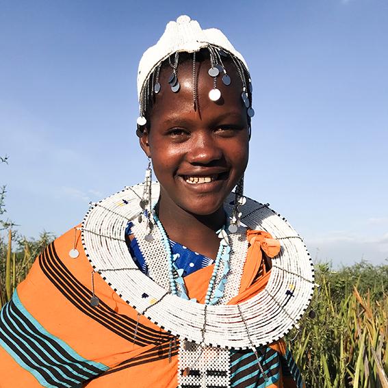 Stella / Madebe Village   Emusitai Elekunya head piece