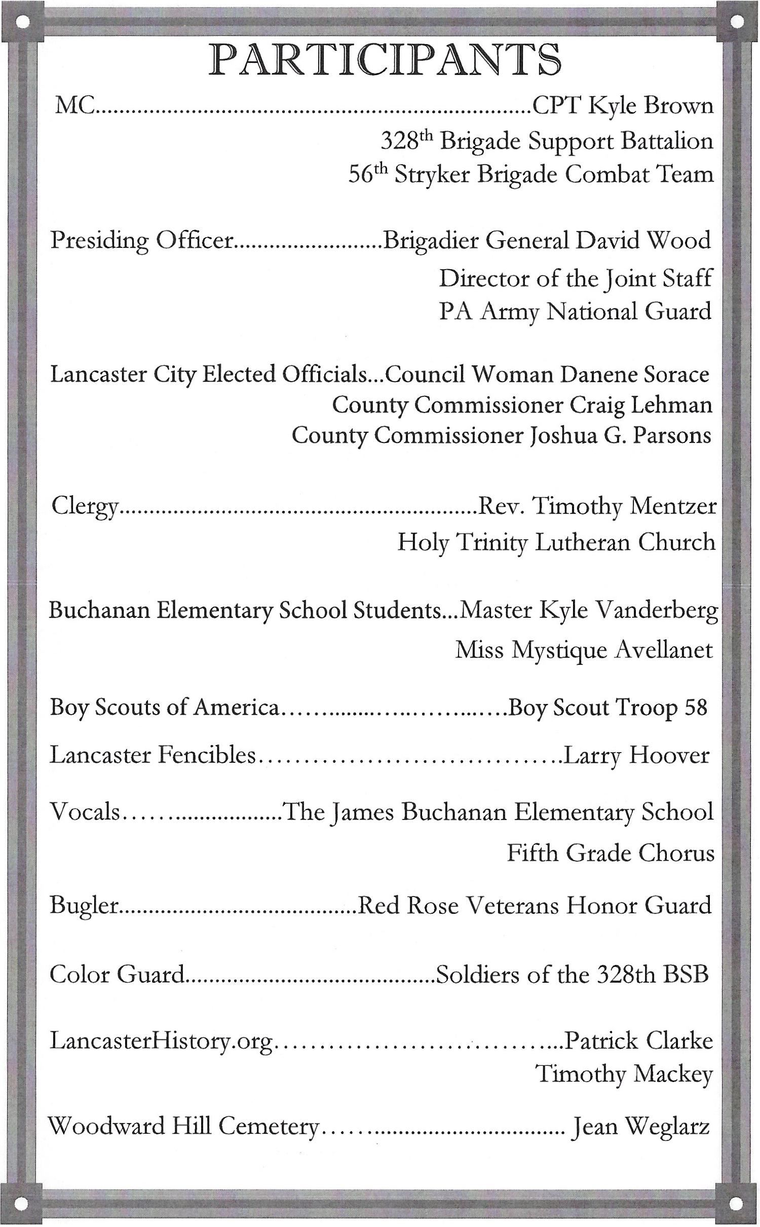 170422 Buchanan wreath laying ceremony program Participants page.jpg