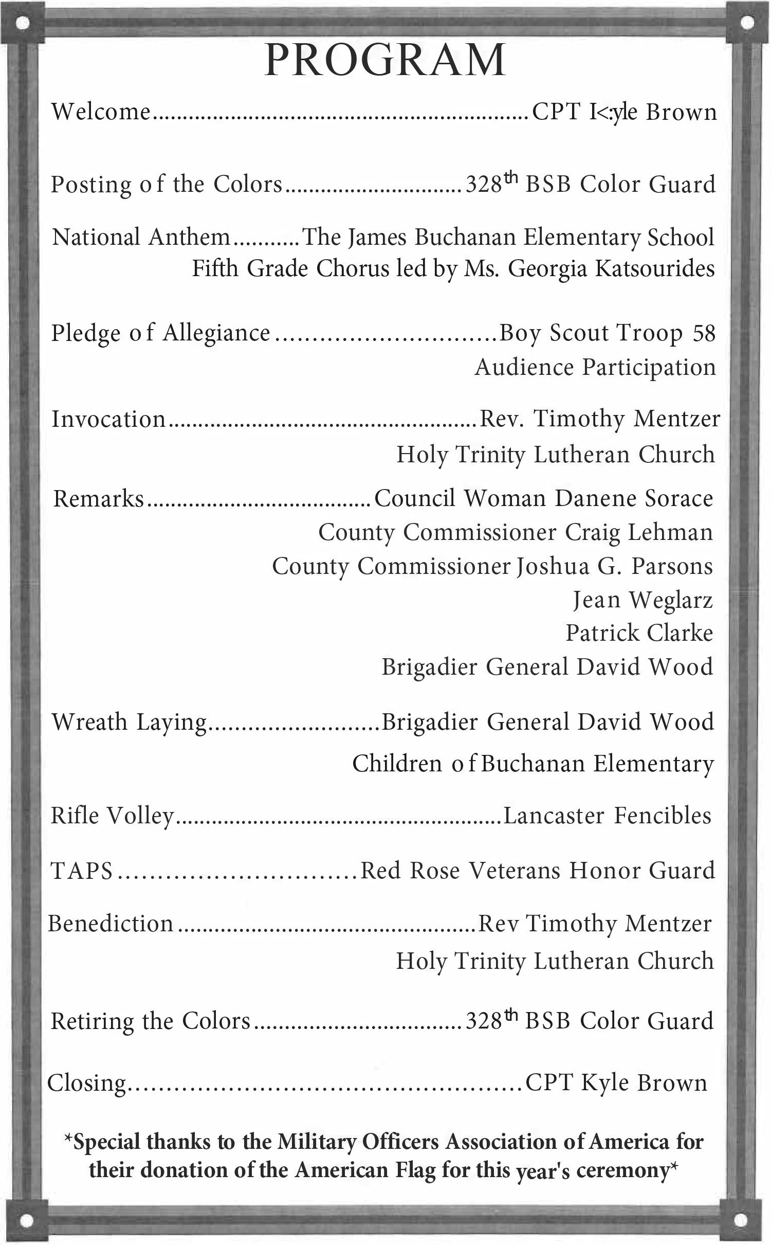 170422 Buchanan wreath laying ceremony Program page.jpg