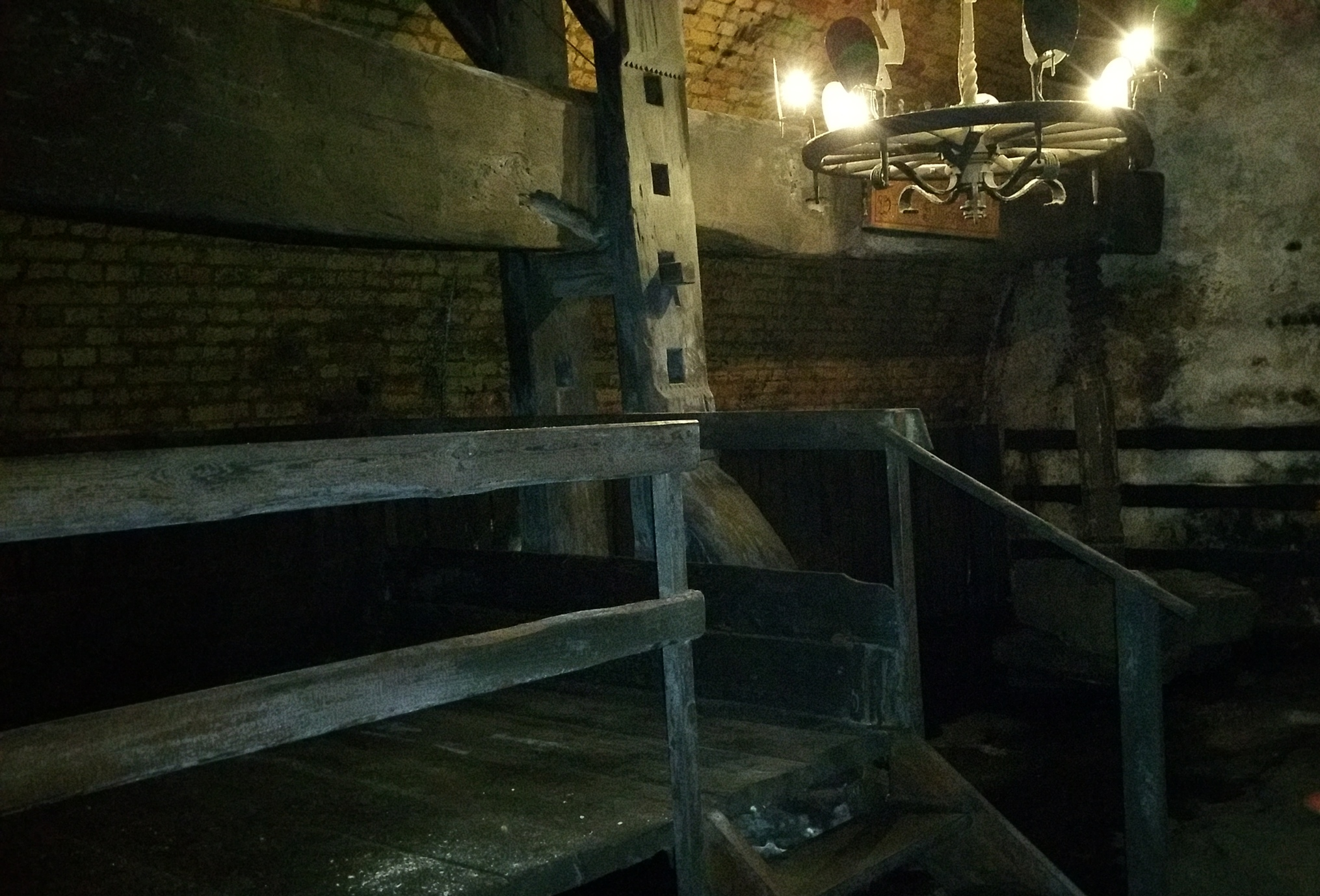 One of the largest and oldest wine presses in Europe. 500 years old, made out of 500 year old oak = 1000 year old oak tree!