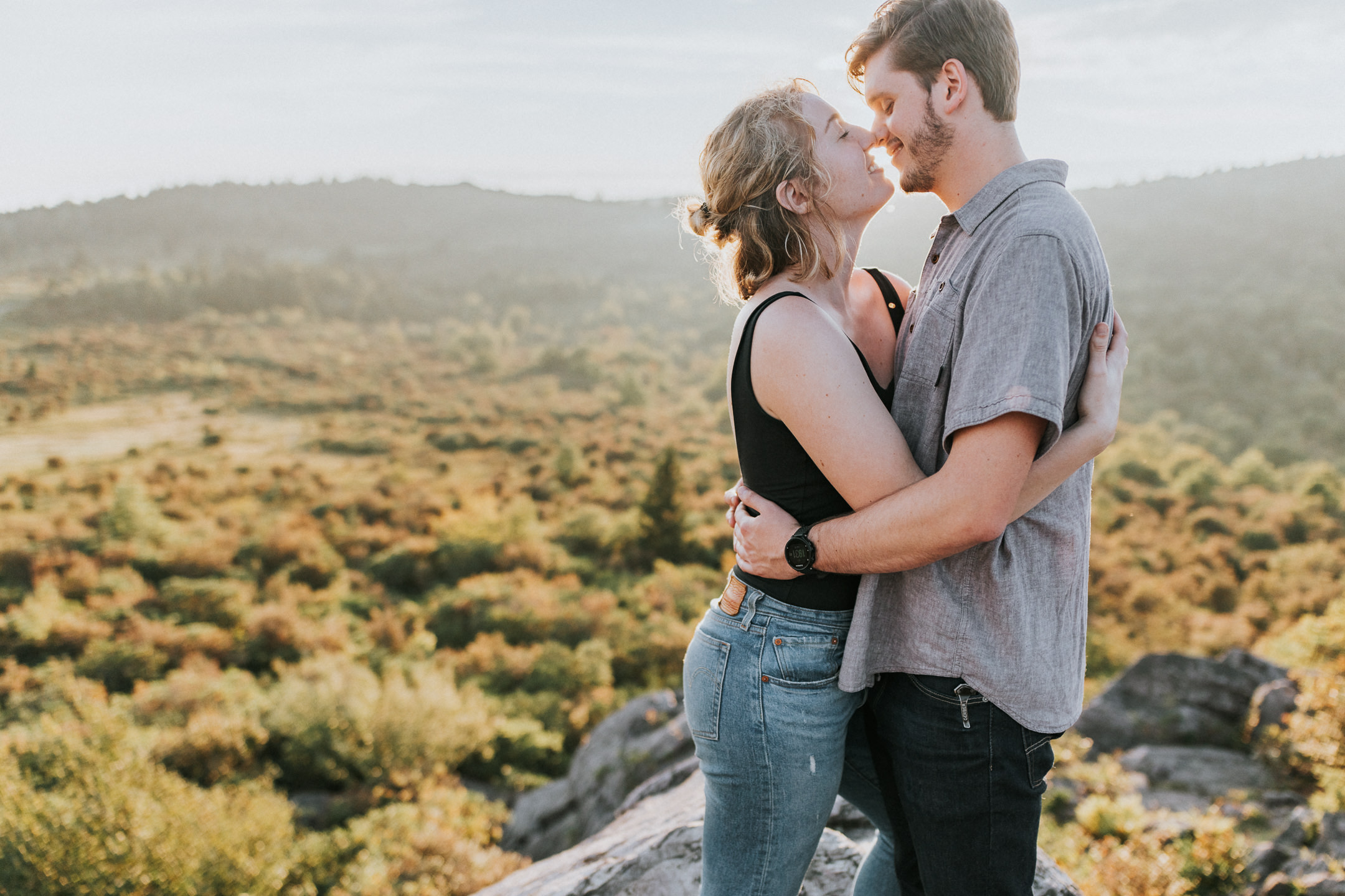 Grayson highlands engagement session