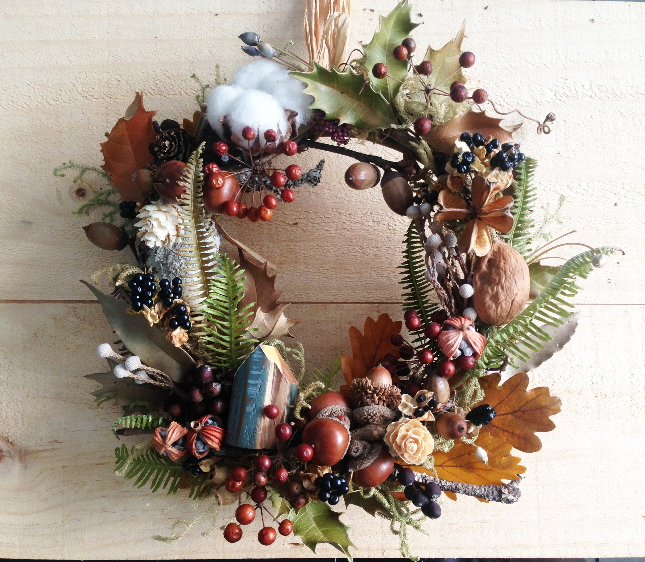 Christmas Wreath made in the mountain -