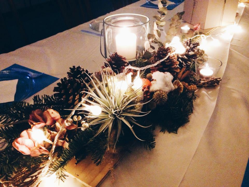 Christmas Party Long Table Decoration -