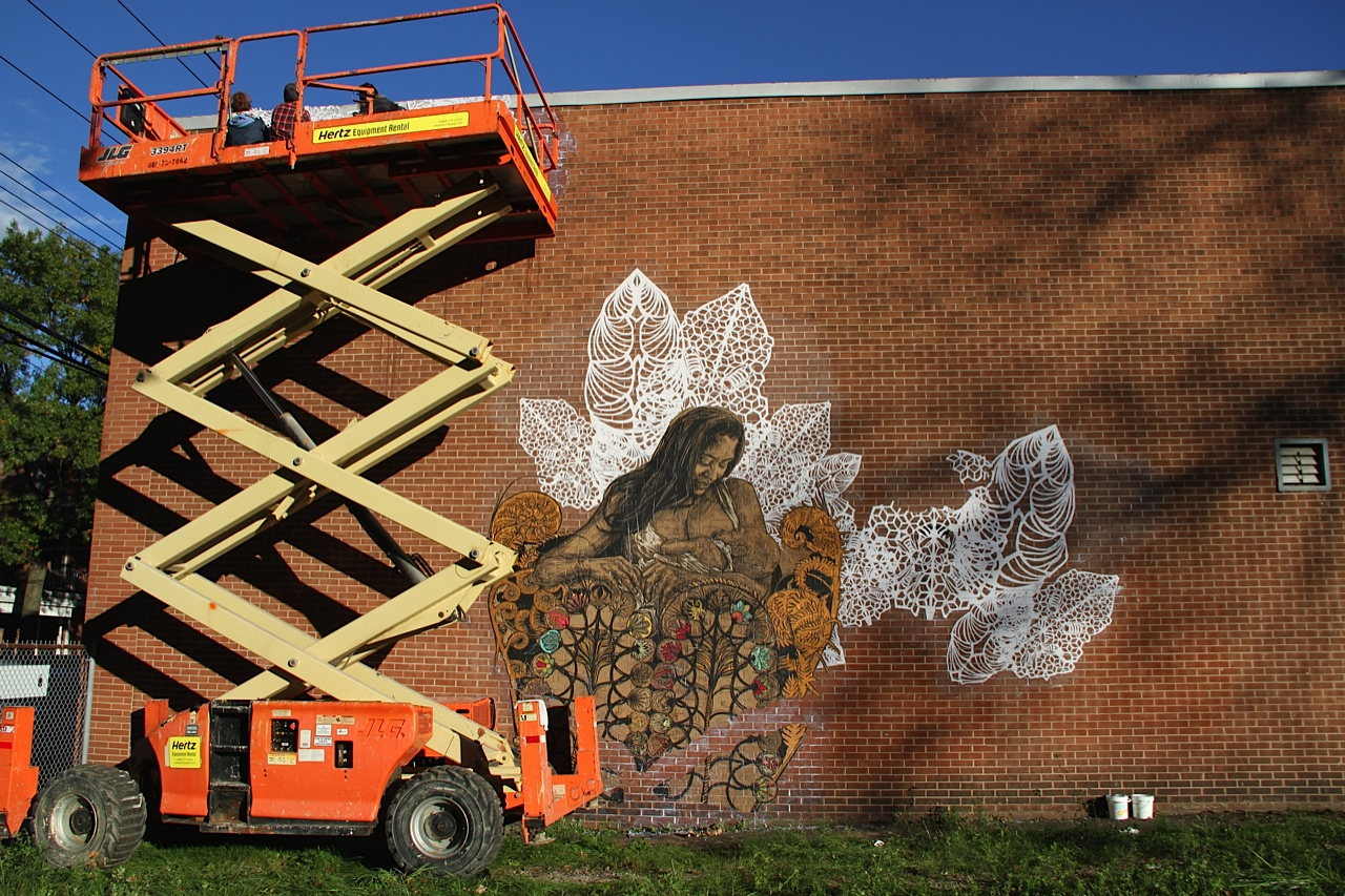 Artist Swoon in New Haven