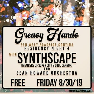 It's Unbelievableh! Join us on August 30th at @zenwest Roadside Cantina in Baltimore, MD for a FREE night of prog rock, eclectic funk, with a twist of jazz and synth heavy electronic. Starting at 8pm, come party with @greasyhandsband, Synthscape, and @seanhoward_orchestra. Will we see you there?  #Baltimore #Maryland #NewMusic #baltimoremusic #baltimoremusicians #marylandmusic #progrock #psychedelicrock #musicians #progressiverock #synthpop #synthesizer