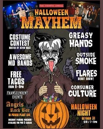SHOW ANNOUNCEMENT!  We'll be rocking with some stellar bands for #halloweenmayhem 🎃  Come rage with us and make sure you dress to impress with some extra greasy outfits - we'll be helping to judge the #costumecontest 👻  Ticket link in the bio 👹
