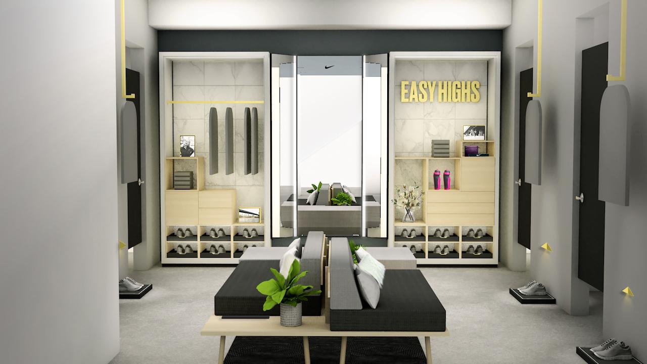 nike fitting room -