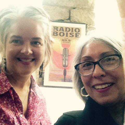 Donna and I at Radio Boise, September 2015, photo courtesy Donna Vasquez