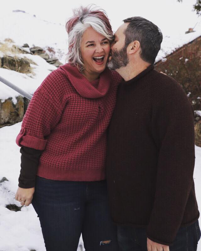 Maike Devon Photography  took some amazing family photos in 15 minutes flat in thrift store sweaters and snow and laughter. This stolen kiss sums up my relationship with Dr. Brown perfectly.