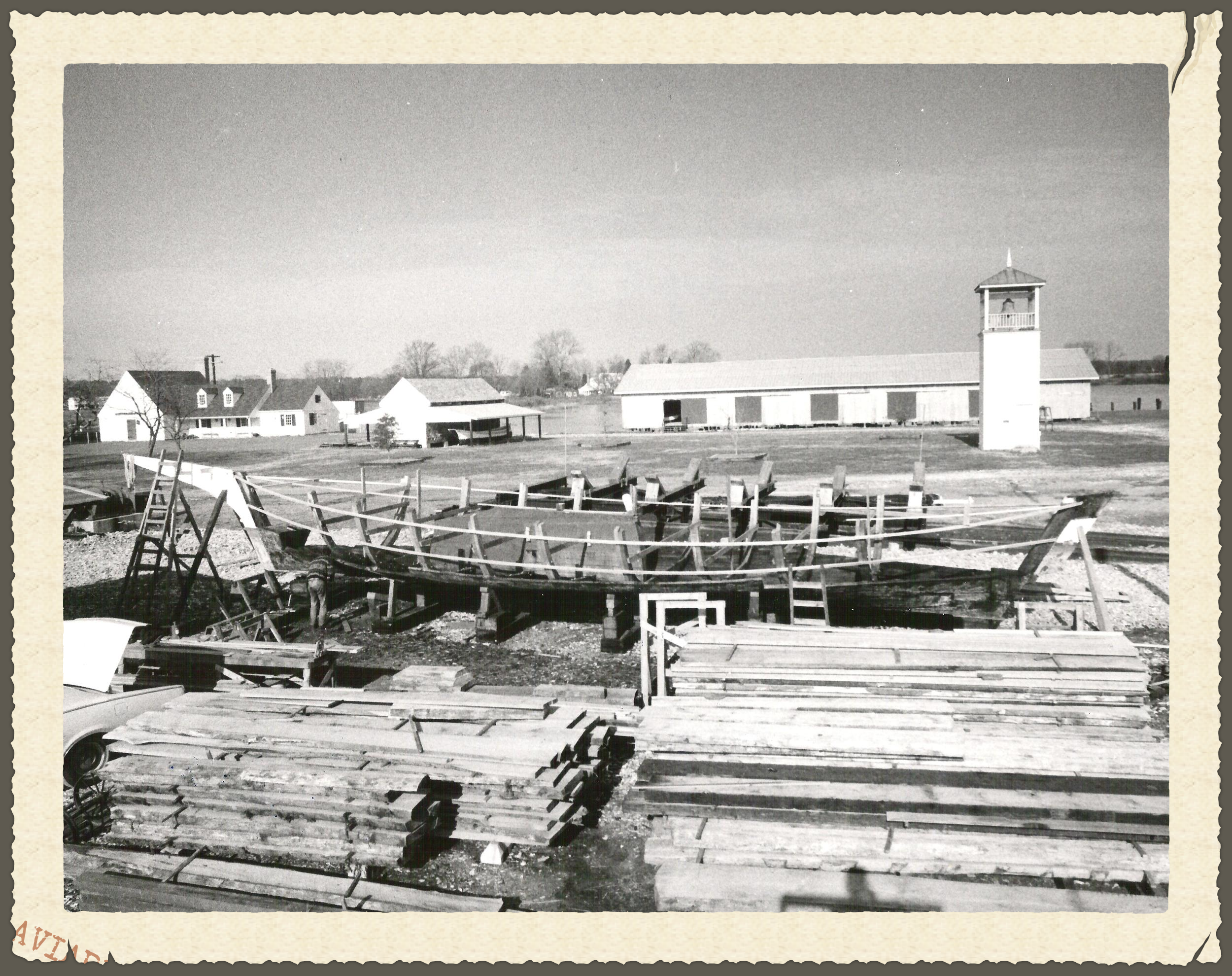 The  Edna E. Lockwood  underwent a restoration at the Chesapeake Bay Maritime Museum in 1975. Photo Credit:C. C. Harris