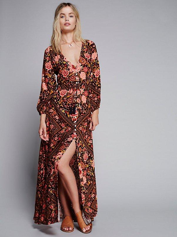 Babushka Printed Maxi Gown