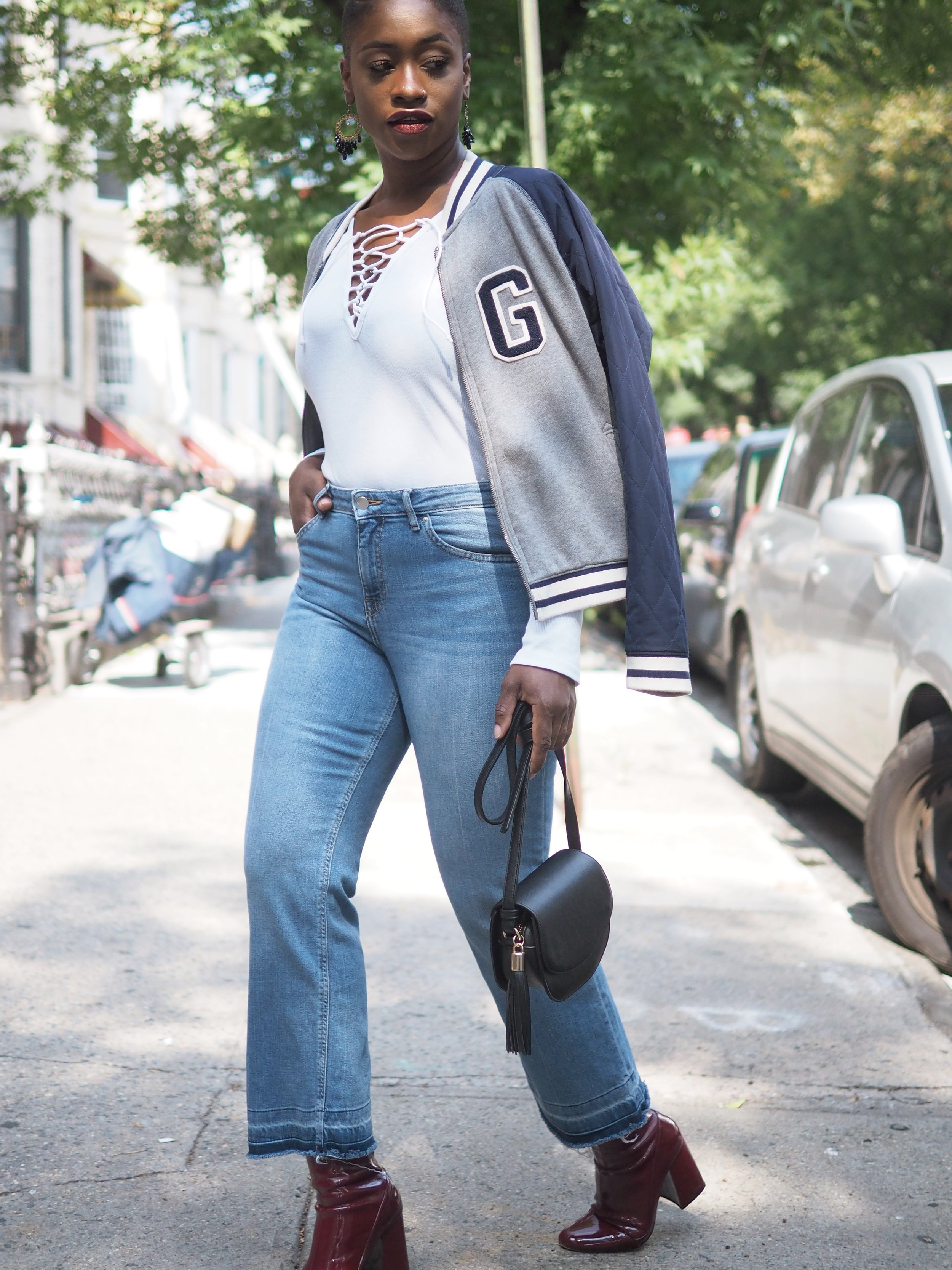 Fall Outfit Bomber Jacket 3