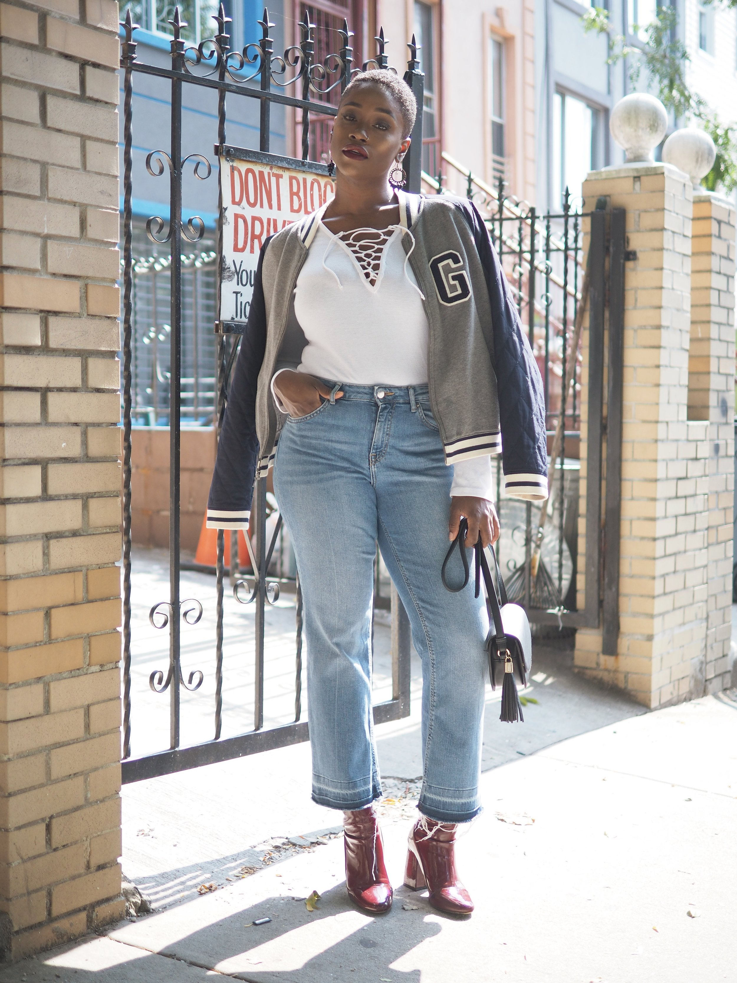 Fall Outfit Bomber Jacket 6