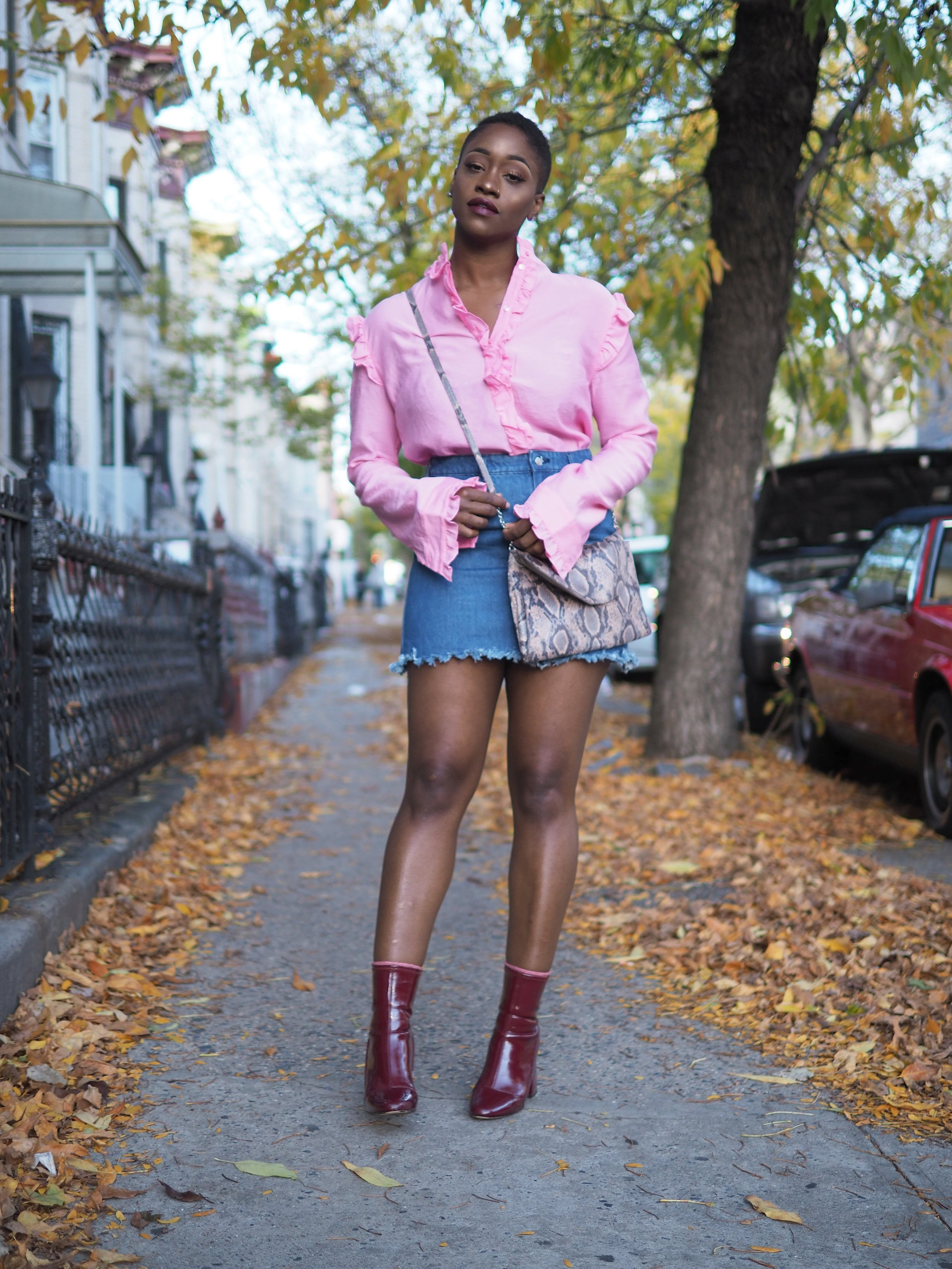 Pink Ruffle Top by The Language of Yolande 3