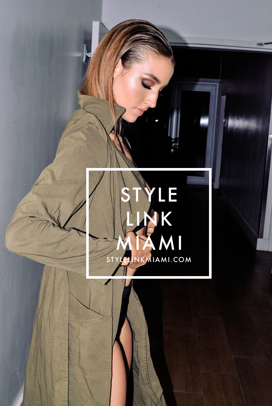 by  illy Perez  // Style Link Miami   -  Olive Duster Trench