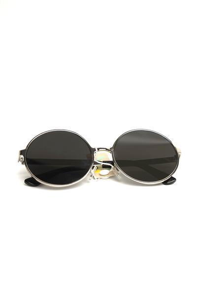 Silver Metal Frame Round Sunglasses