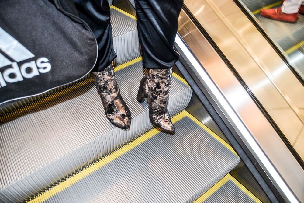 Metallic Pointed Booties at Style Link Miami