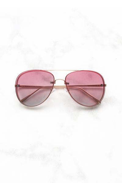 Pink Two Toned Lens Aviator Sunglasses