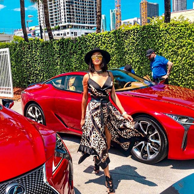 Honey 🍯 I'm home 👑 coming up on the highlights & IGTV  Experience Amazing w/ me & @mimisanchezblog in the new LC 500 beauty in behalf of  #MIAFW2019 🤩 Big thank yous to the @lexususa @lexusmiami team and @miamifashionweek for the ultimate runway ride 😜 in the only language we know how to speak, #InStyle⠀⠀⠀⠀⠀⠀⠀⠀⠀ via @byhouseofshe 📸 by @mimisanchezblog @socialsolutionsconsulting  #lexus #lexuslc500 #testdrive #lexusmiami #fashionweek #miami #outfitoftheday